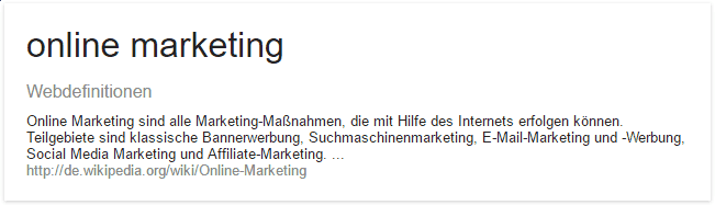 Definition Online Marketing Internet-Marketing Lanz Internet Services GmbH